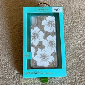 Kate Spade clear crystal case for iPhone XS MAX